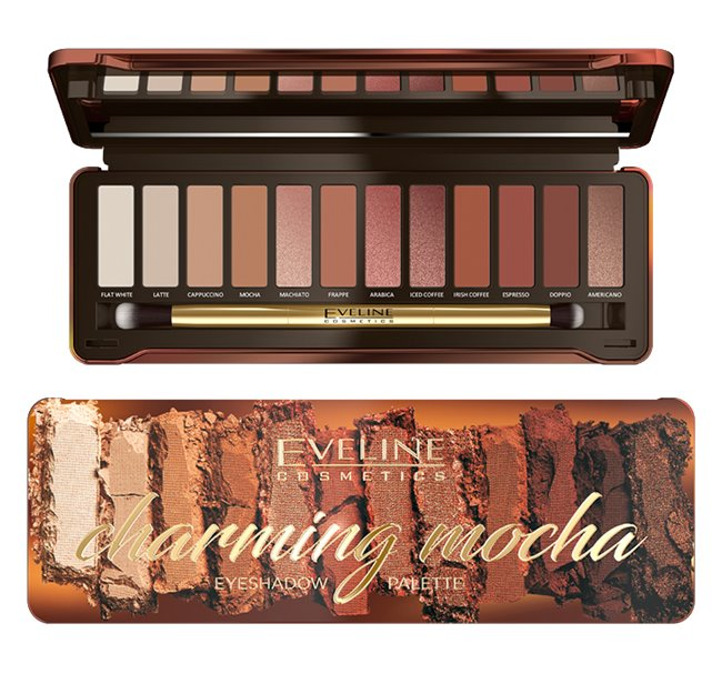 Eveline Cosmetics Charming Mocha paleta očních stínu 12 g
