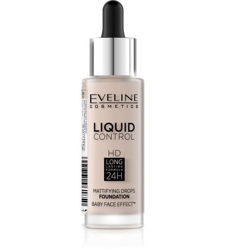 Eveline Cosmetics Liquid Control HD Mattifying Drops Foundation Odstín: 05 Ivory 32 ml