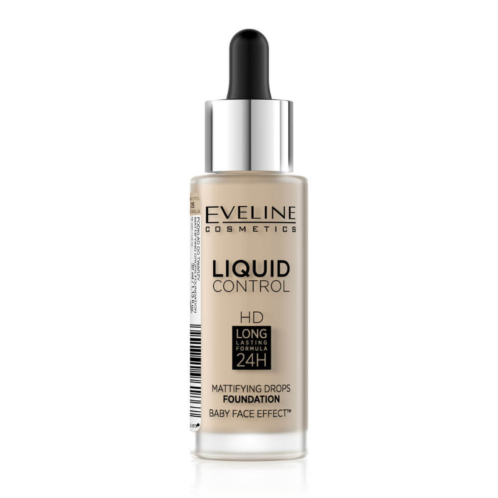 Eveline Cosmetics Liquid Control HD Mattifying Drops Foundation Odstín: 15 Light Vanilla 32 ml