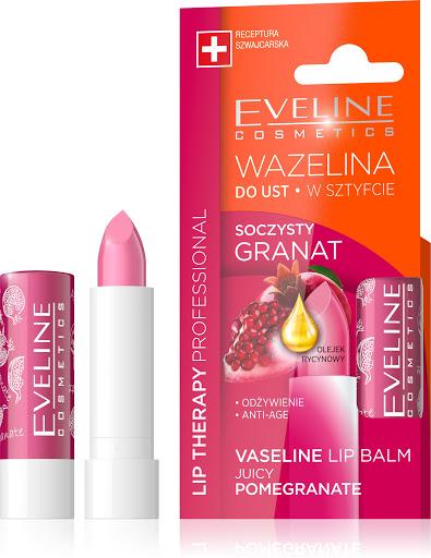 Eveline Cosmetics Vazelínová pomáda na rty s granátovým jablkem 3,8 g