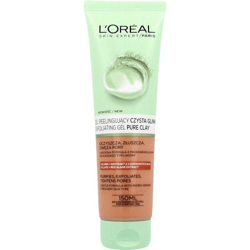 L'Oréal Paris Pure Clay Peelingový gel na mytí obličeje 150 ml