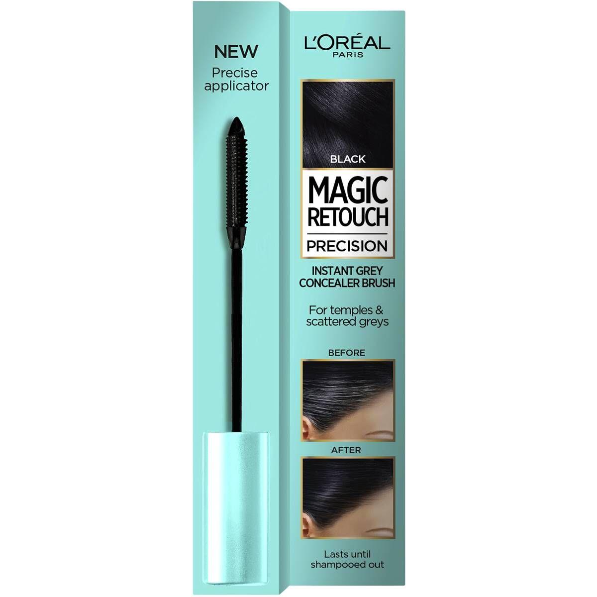 L'Oreal Paris Magic Retouch Precision Řasenka na vlasy Černá 8 ml