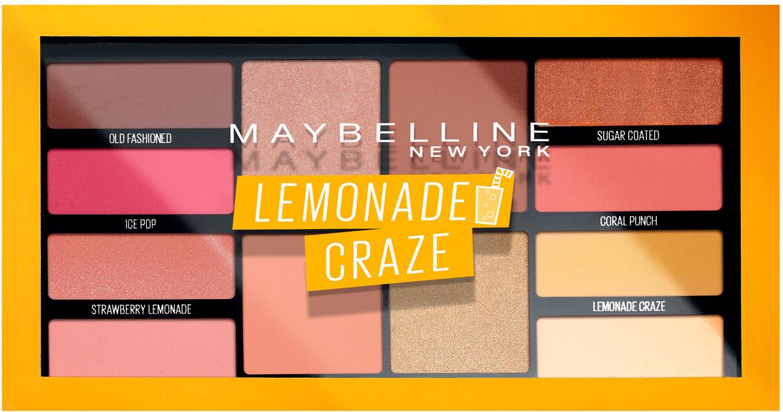 Maybelline Lemonade Craze Paleta očních stínů 12 g