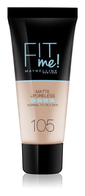 Maybelline Fit Me! Matující make-up pro normální a mastnou pleť Odstín: 105 Natural Ivory 30ml