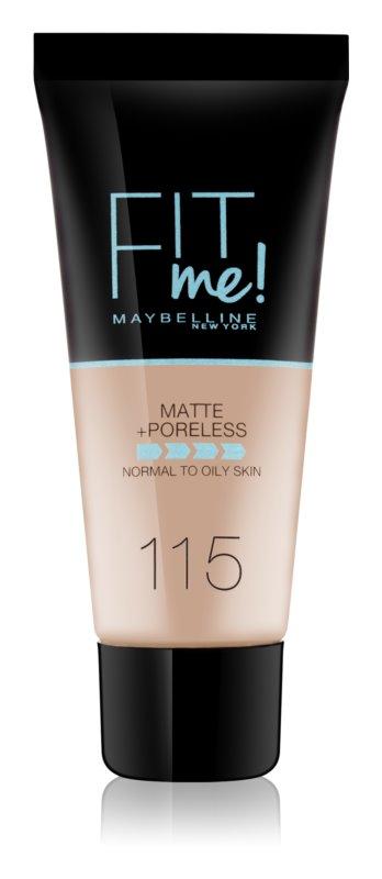 Maybelline Fit Me! Matující make-up pro normální a mastnou pleť Odstín: 115 Ivory 30ml
