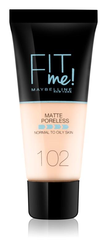 Maybelline Fit Me! Matující make-up pro normální a mastnou pleť Odstín: 102 Fair Ivory 30ml
