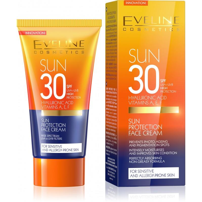 Eveline Cosmetics Sun Care Opalovací krém na obličej SPF 30 50 ml