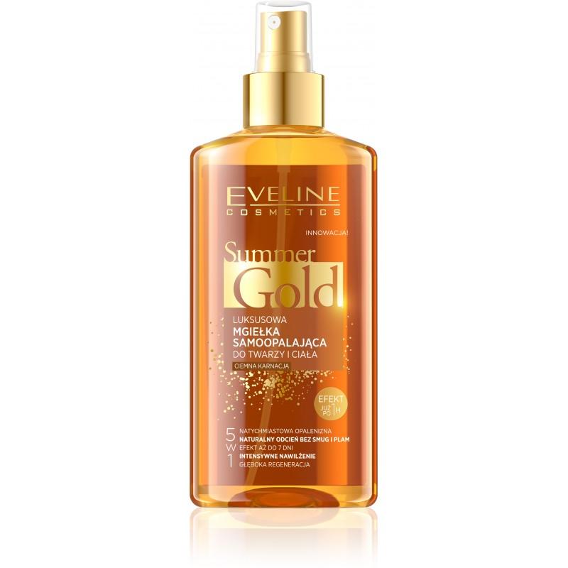 Eveline Cosmetics Summer Gold Samoopalovací tělový olej ve spreji pro tmavou pleť 150 ml