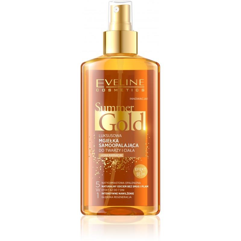 Eveline Cosmetics Summer Gold Samoopalovací tělový olej ve spreji pro světlou pleť 150 ml