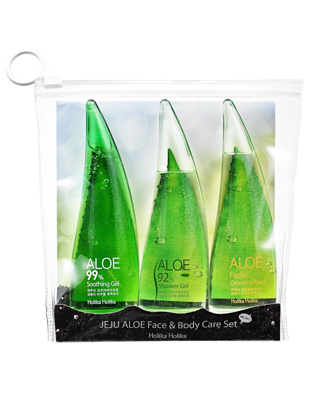 Holika Holika Jeju Aloe Face and Body kosmetická sada s obsahem aloe 3x 55ml