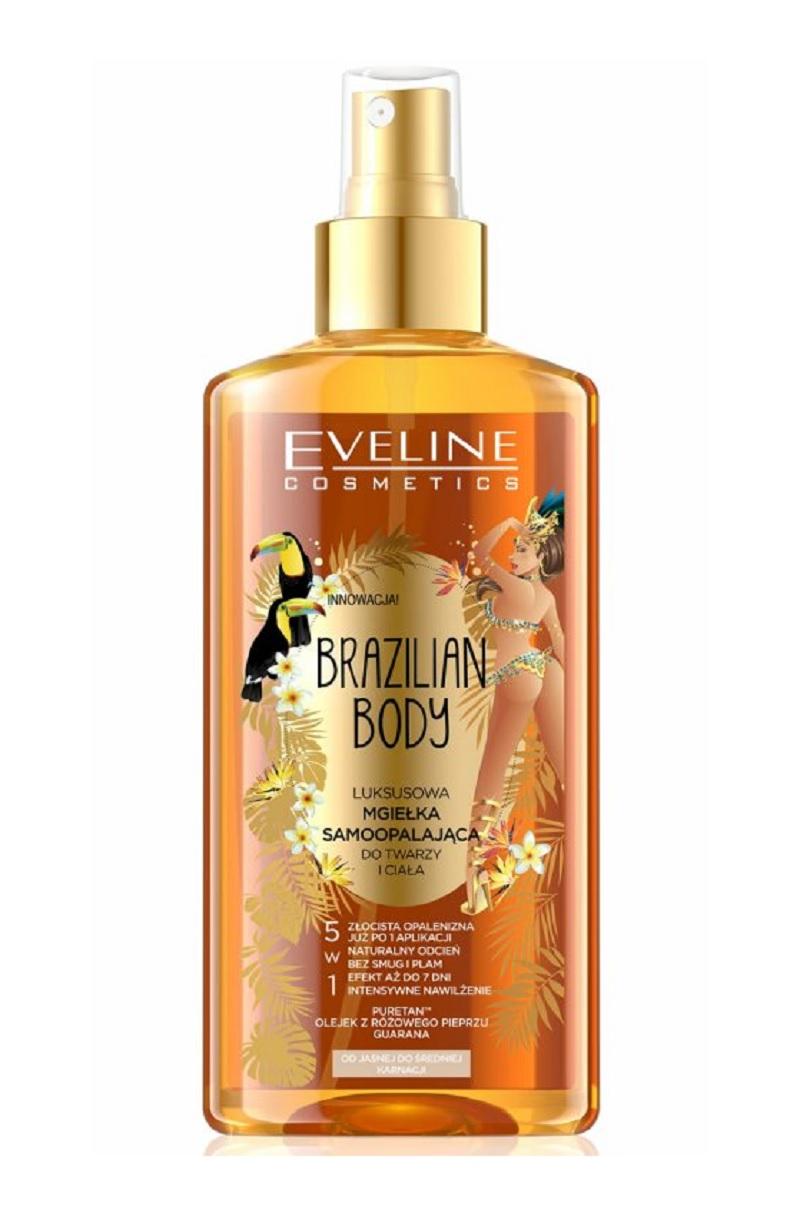 Eveline Cosmetics Brazilian Body Self-tanning Face and Body Mist Samoopalovací sprej na tvář i tělo 150 ml