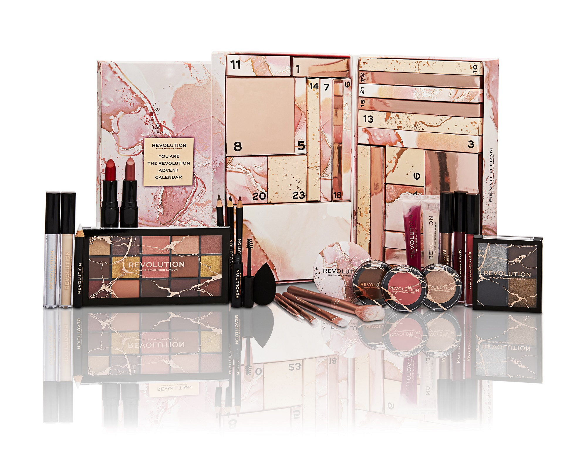 Makeup Revolution You Are The Revolution Advent Calendar 2021 Adventní kalendář s 25 kosmetickými do