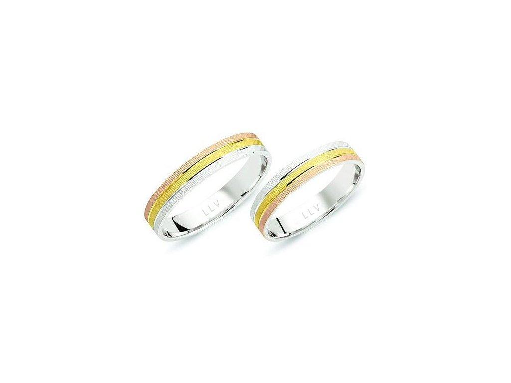 Snubní prsteny F1717E (Barva zlata Žlutá)