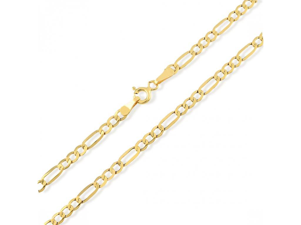 Zlatý řetízek LLV31-GCH022Y