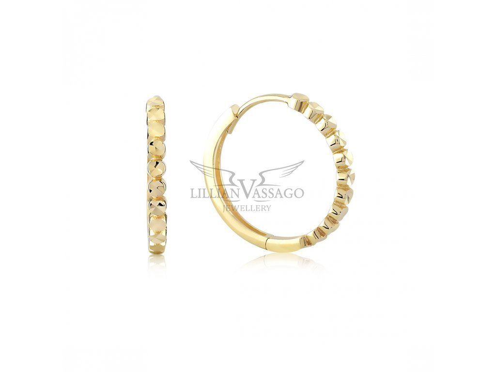 Zlaté náušnice LLV06-GER102