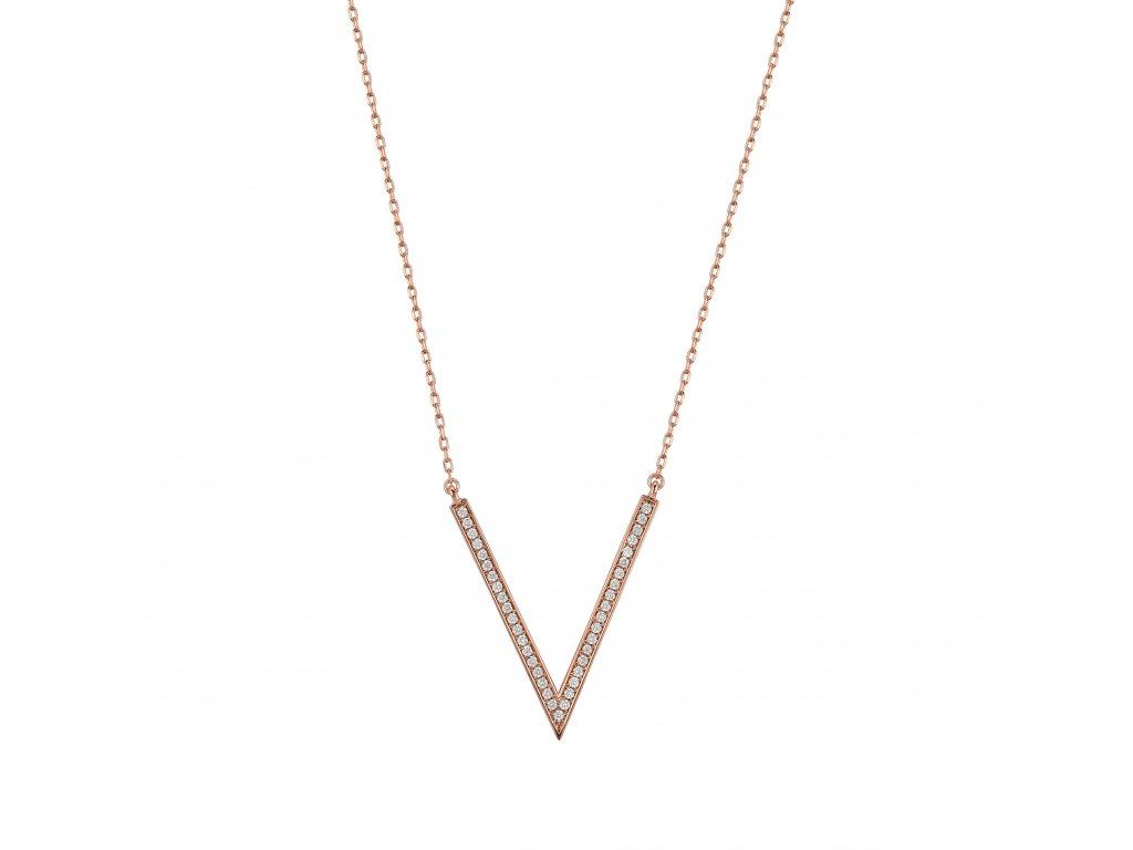 Zlatý náhrdelník s brilianty PFNT1184