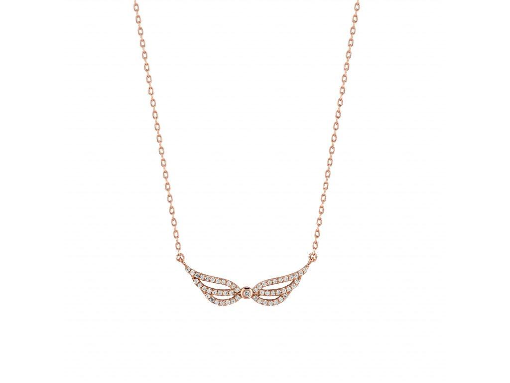 Zlatý náhrdelník s brilianty PFNT1209