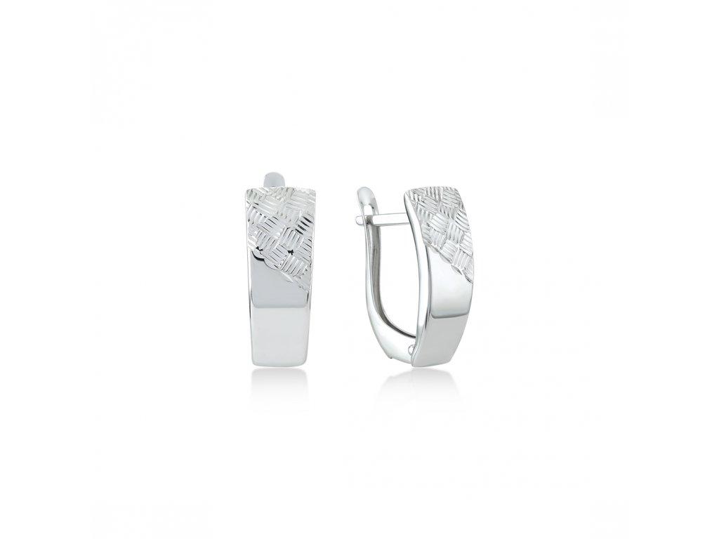Stříbrné náušnice  LLV06-SER038