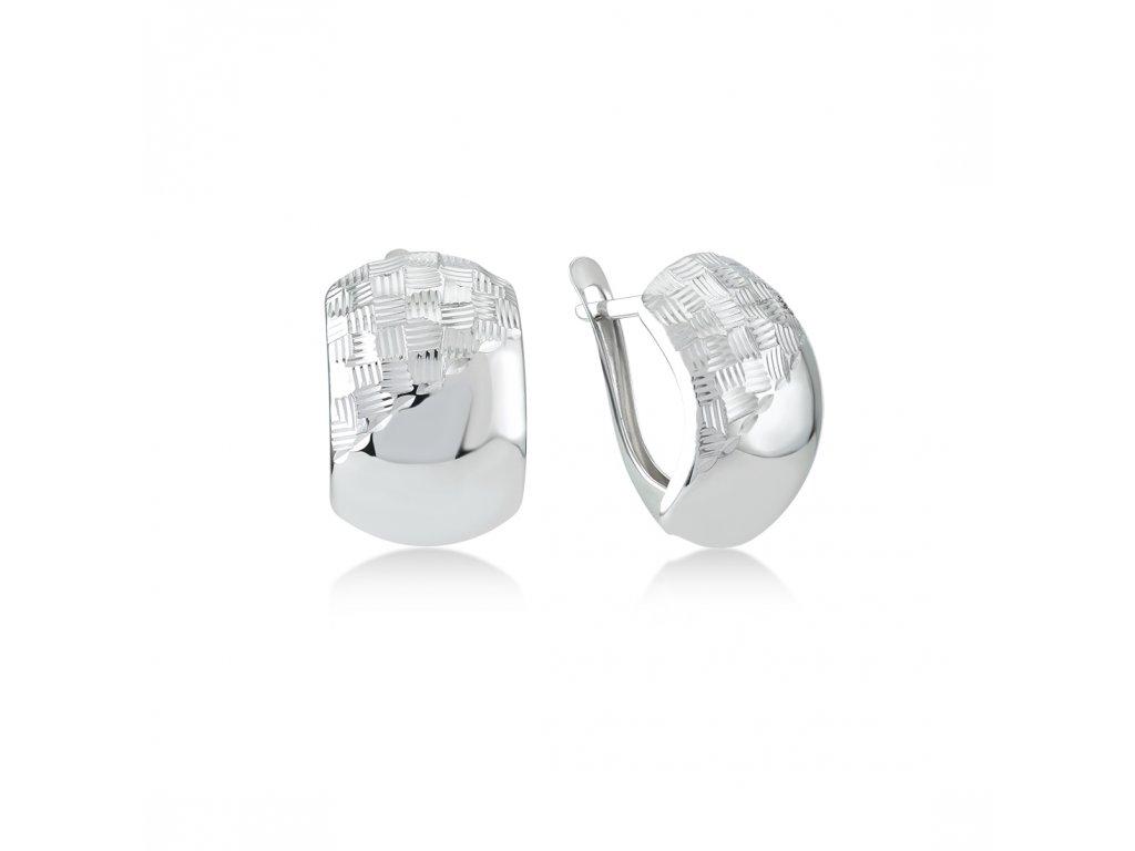 Stříbrné náušnice  LLV06-SER041