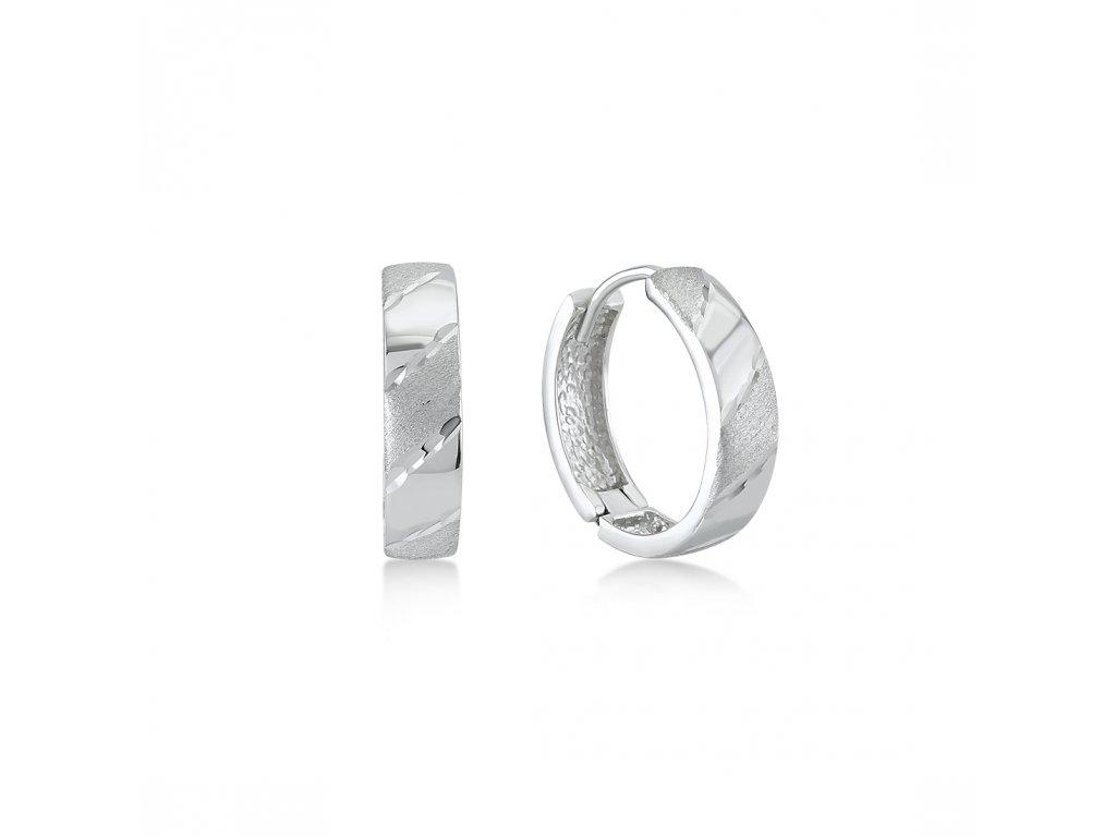 Stříbrné náušnice  LLV06-SER049