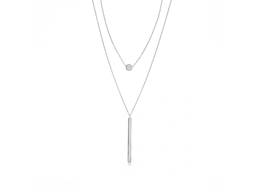 Stříbrný náhrdelník LLV06-SN008