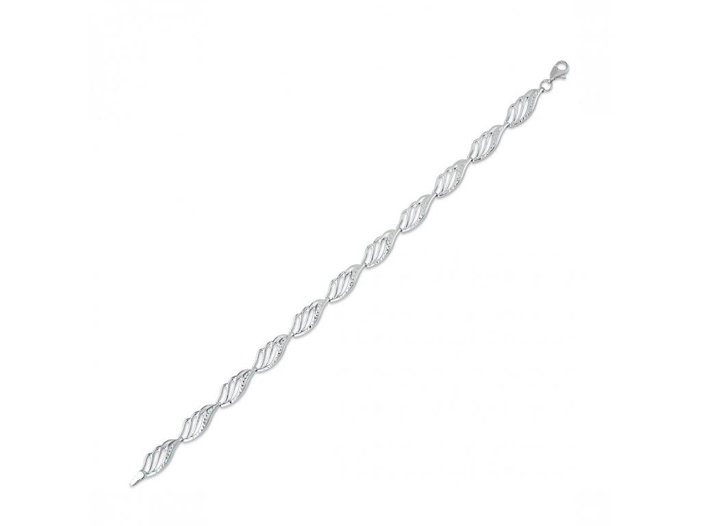 Stříbrný náramek LLV06-SB009
