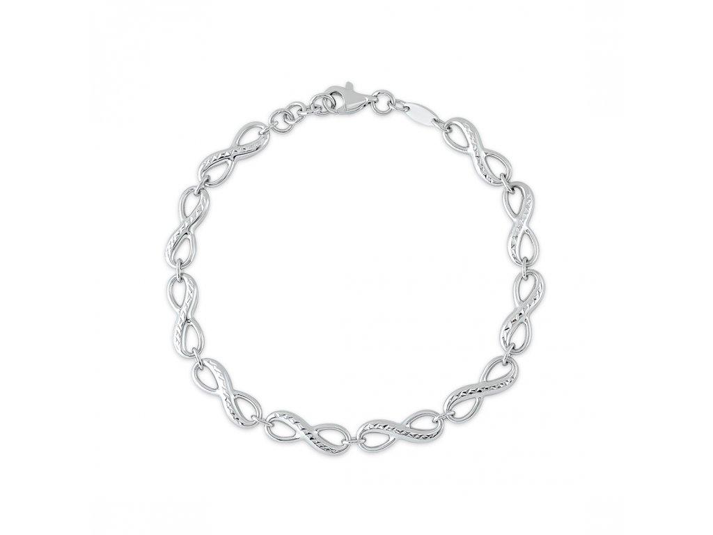 Stříbrný náramek LLV06-SB0011