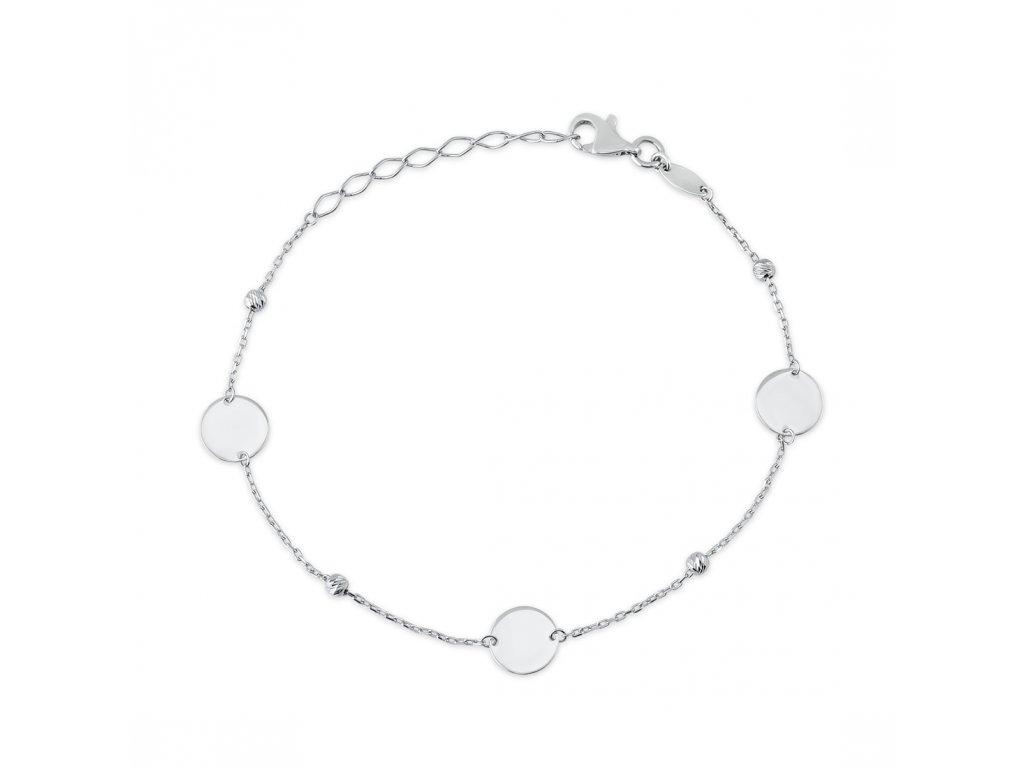 Stříbrný náramek LLV06-SB0014