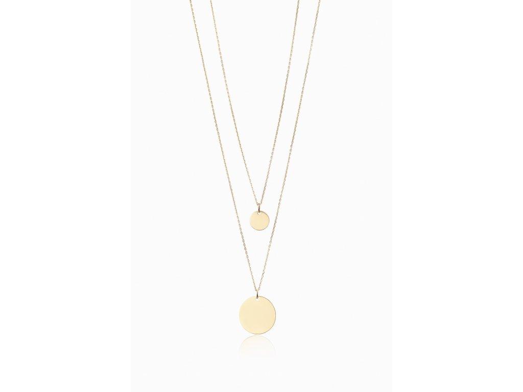Zlatý náhrdelník LLV46-GN035