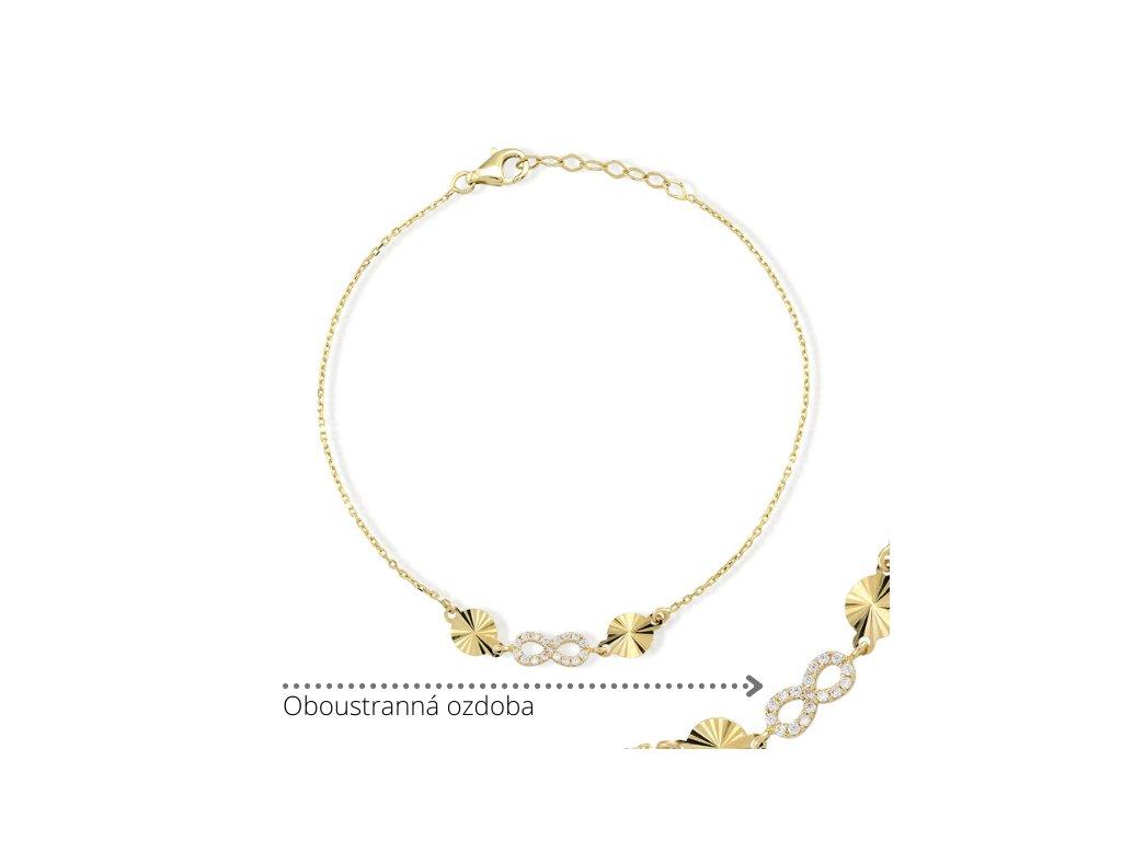 Zlatý náramek LLV75-GB002