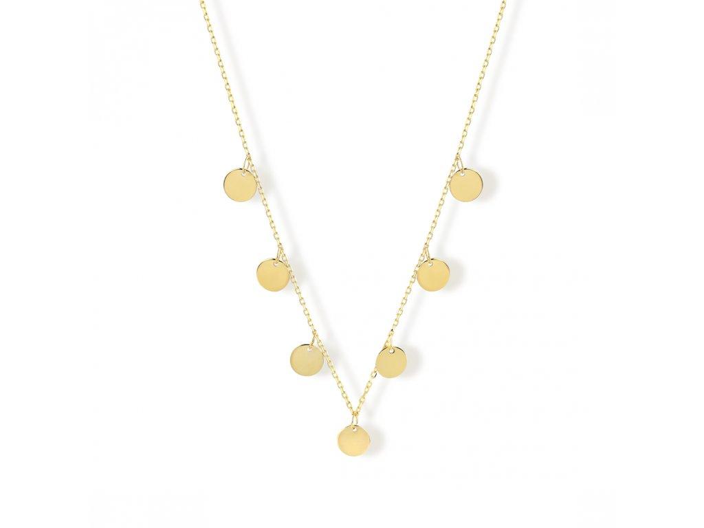 Zlatý náhrdelník LLV22-GN004