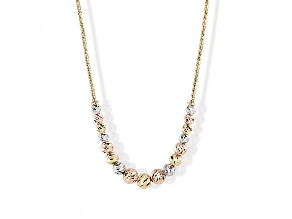 Zlatý náhrdelník LLV22-GN010