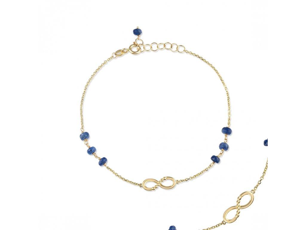 Zlatý náramek se safíry LLV22-GB011