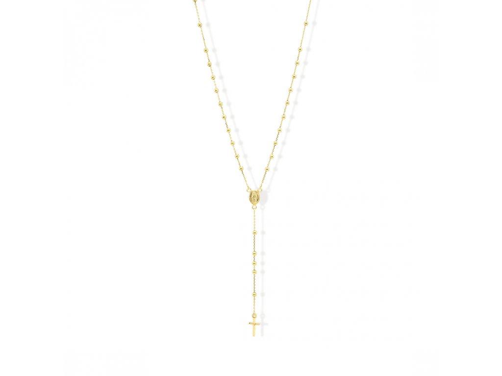 Zlatý náhrdelník LLV31-GN007RZ