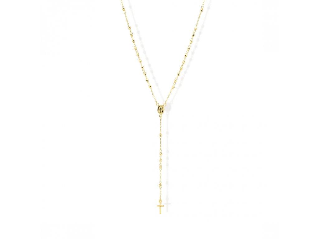 Zlatý náhrdelník LLV31-GN008RZ
