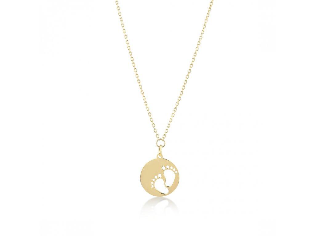 Zlatý náhrdelník LLV22-GN003