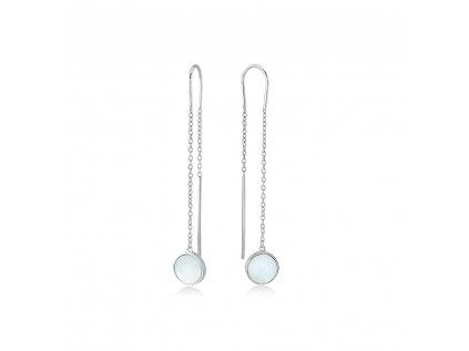 Stříbrné náušnice s perletí LLV06-SER007