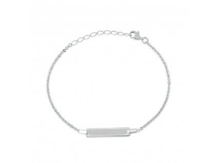Stříbrný náramek LLV06-SB0018