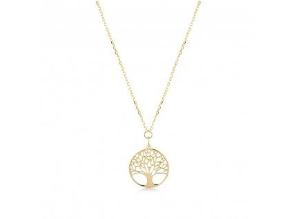 Zlatý náhrdelník LLV22-GN006