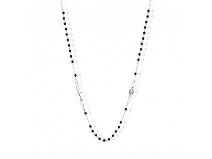 Zlatý náhrdelník s onyxy LLV31-GN005RZ