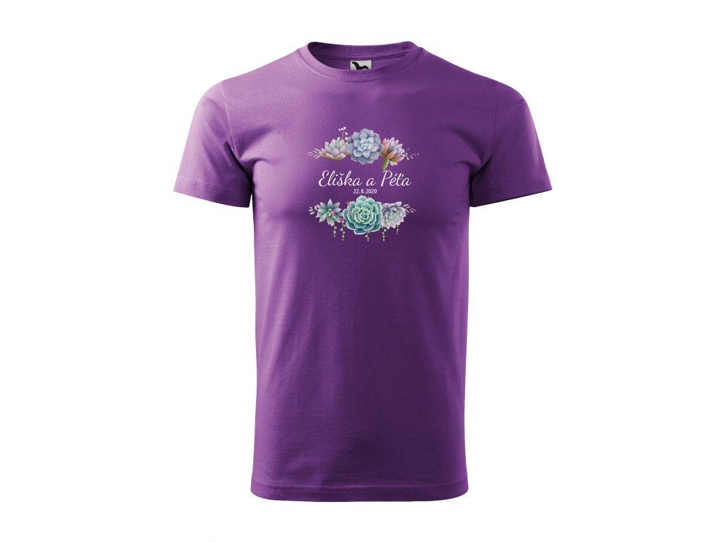 Pánské tričko sukulenty svatební
