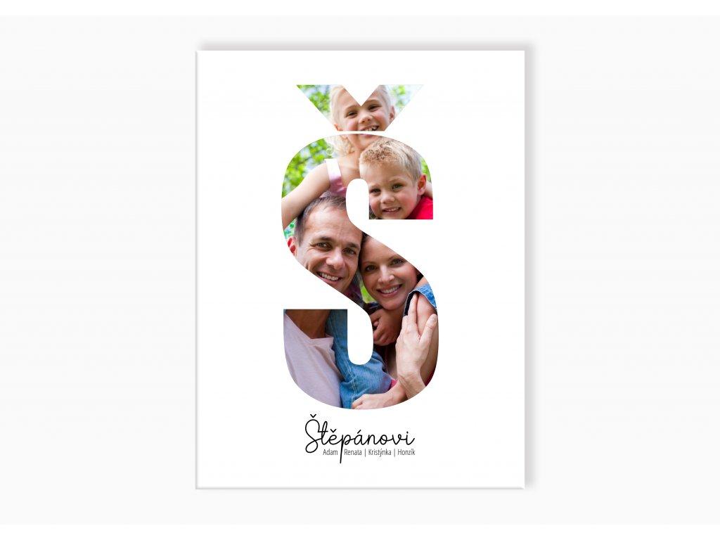 Rodinný fotoobraz písmeno