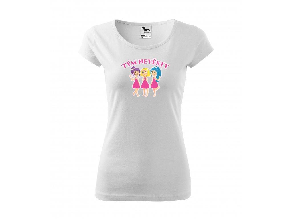 Dámské rozlučkové tričko tým nevěsty (1)