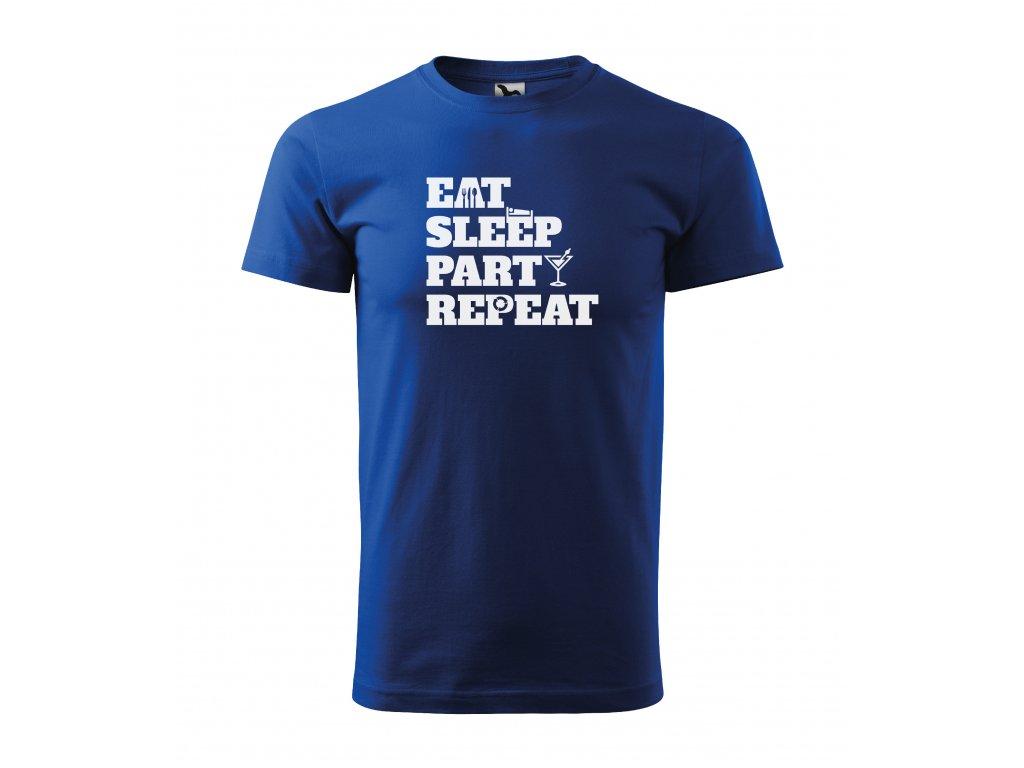 Pánské tričko eat sleep party repeat (3)