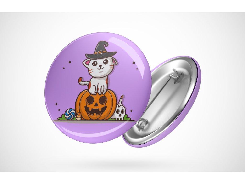 Halloweenská placka dýně a kočička