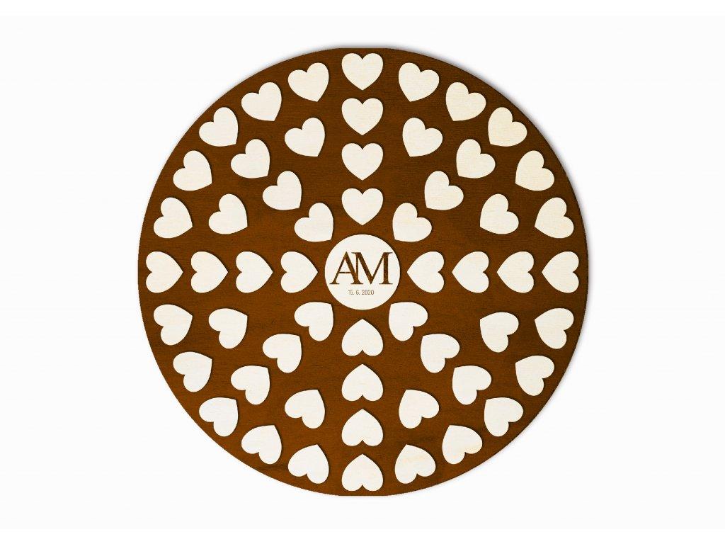 Svatební strom srdce v kruhu