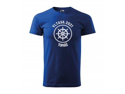 Pánské tričko pro vodáky kormidlo