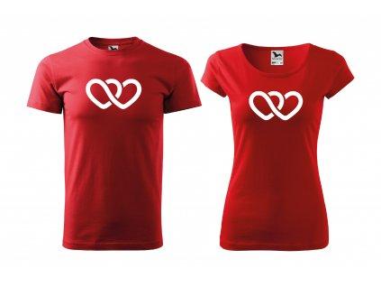 Párová trička spojená srdce