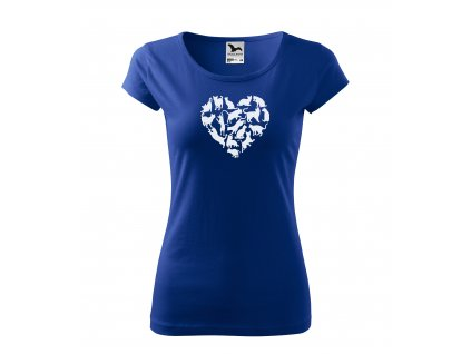 Dámské tričko kočky v srdci