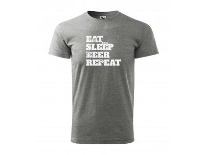 Pánské tričko eat sleep beer repeat (5)